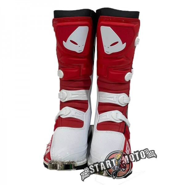 Мотоботы UFO Obsidian Boots Red/White Размеры 42-46