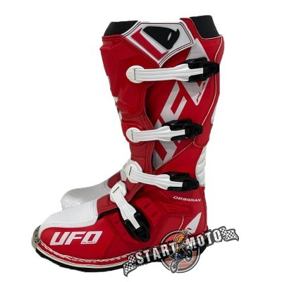 Мотоботы UFO Obsidian Boots Red/White (42-46)